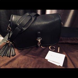 Gucci Black leather Marrakech Messenger